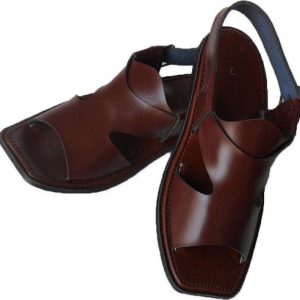 Brown Leather Chappal - Panj-e-daar Chappal for Men