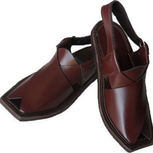 Brown Leather Made Common Peshawari Chappal for Men