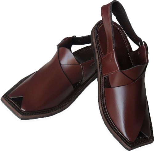 bd64de9eb783 Brown Leather Made Common Peshawari Chappal for Men