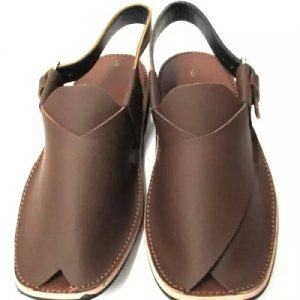 Peshawari Chappal - Dark Brown Leather