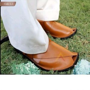 Peshawari Chappal For Men - Mustard Pure Leather