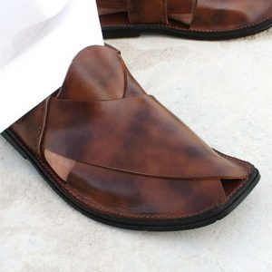 Pure Leather Peshawari Sandal- Brown
