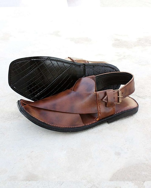 27310f4c2a9d Pure Leather Peshawari Sandal - Dark Brown