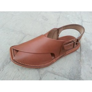 Pure Handmade Light Brown Peshawari Chappal