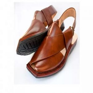 Peshawari Chappal - Red Mustard Leather