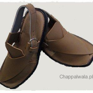 Camel Brown Color Leather Peshawri Chappal