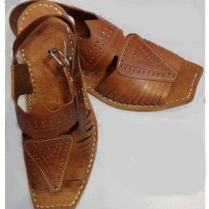 New Design Peshawari Sandal Brown Color online Pakistan 1