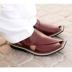 Peshawari Chappal Dark Brown Color for Men
